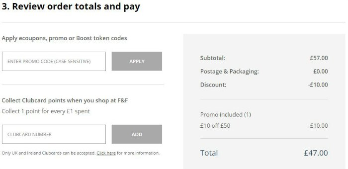 NEW Tesco voucher code! Tesco Clothing have just released new discount codes to get up to £25 off your F&F shop.